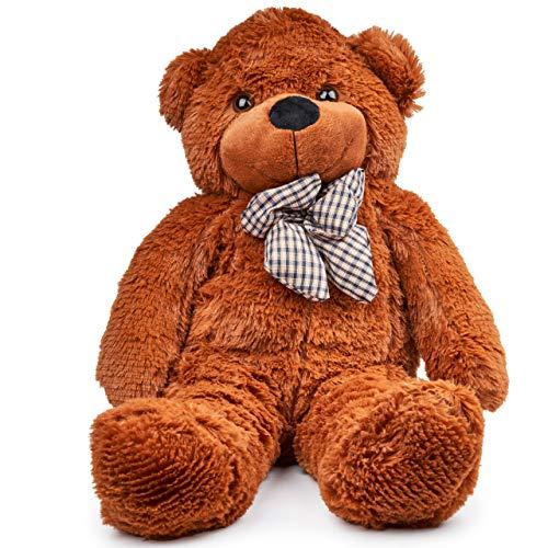 THE TWIDDLERS Oso de Peluche (80cm) - Gigante Tierno Osito Suave Juguete de Peluche | Grande Blanco Teddy Bear | Regalo Romántico