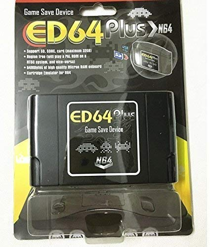 Entrega gratis ED64 Plus Game Save Drive Flash Card (sin tarjeta sd)
