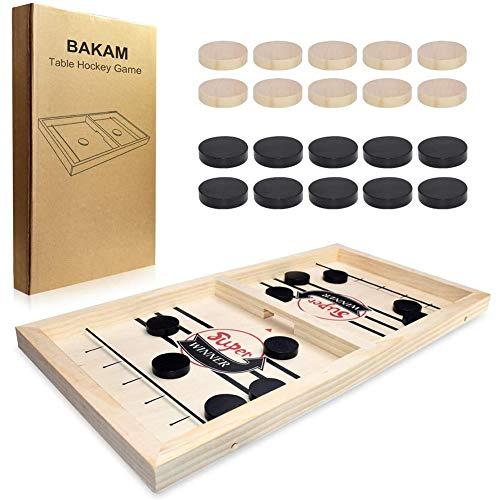 Bouncing Chess Game, 2-Spieler-Finger-Hockey-Brettspiel, Tabletop-Spielzeug, Slingshot-Hockey-Brettspiele, Katapult-Schachspielzeug für Familienfeiern, interaktives Spielzeug