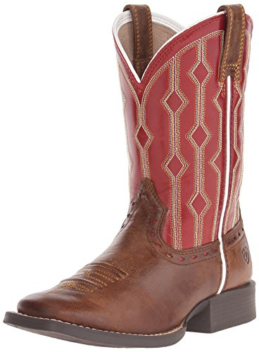 ARIAT unisex child Live Wire Western Boot, Wood/Mega Red, 3 Little Kid US