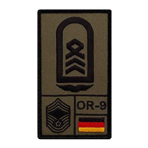 Café Viereck ® Oberstabsfeldwebel Luftwaffe Bundeswehr Rank Patch mit Dienstgrad - Gestickt mit Klett – 9,8 cm x 5,6 cm