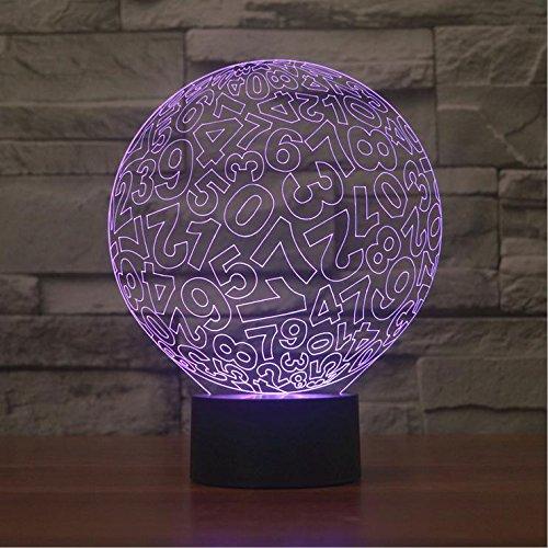 ZHIYUAN LED de couleur Visual lumière/économie d'énergie lampes/création cercle tactile 3D numérique cadeau veilleuse