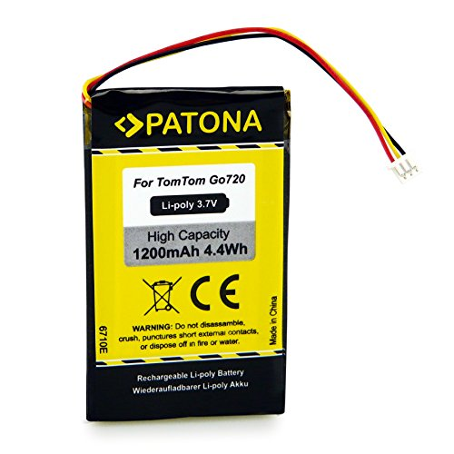 PATONA Bateria Compatible con Tomtom Go 520, 530, 630, 720, 730, 920, 930, 530 Live, 630 Live, 730T, 930T, 940 Live