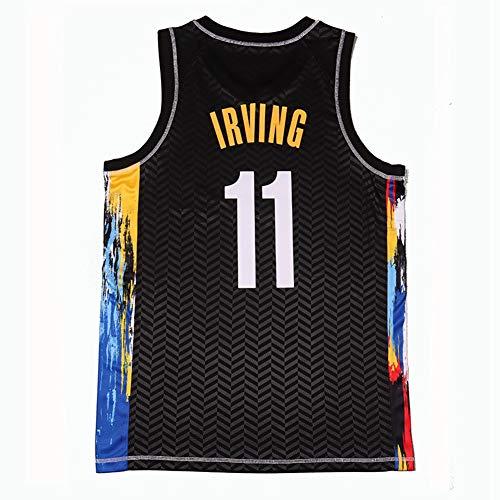 Z/A Brooklyn Nets Kyrie Irving # 11 Basketball Jersey Fans Jersey Sweatshirt Transpirable Sport Chalt Top Fashion Sin Mangas Camiseta Sin Mangas,M