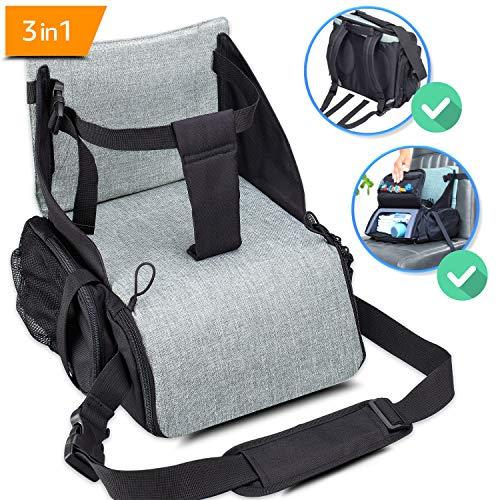 KIDUKU® zitverhoger opvouwbaar, mobiel kinderzitje als zitverhoging of reisstoel, ideaal als kinderstoel voor onderweg voor baby's en kleine kinderen