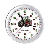 Personalisierte Kinderwanduhr Traktor Kinderzimmer Wanduhr mit Namen Lernuhr Kinderuhr Uhr