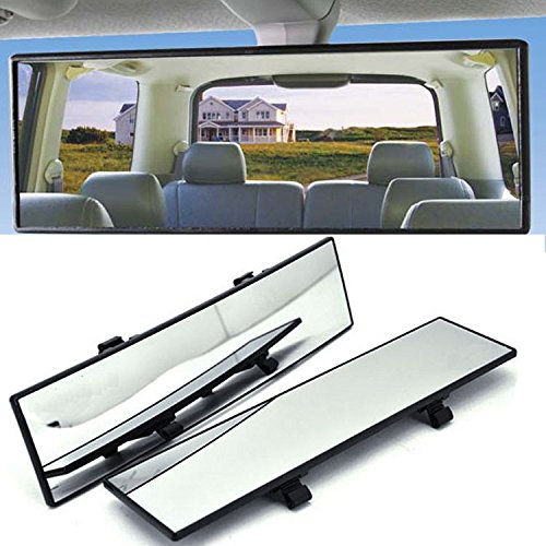 Espejo retrovisor interior para coche de Gogolo,  gran angular de 12 pulgadas,  diseño convexo,  con clip para su colocación