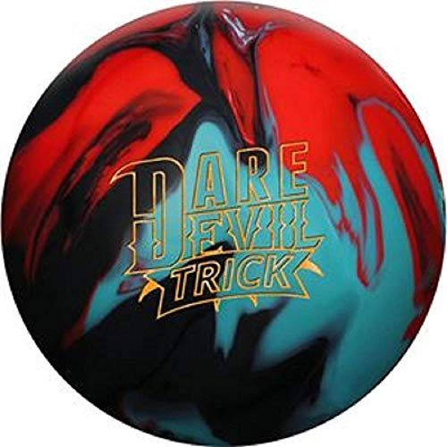 Roto Grip Dare Devil Trick Bowling Ball, Black/Teal/Red, 15 lb
