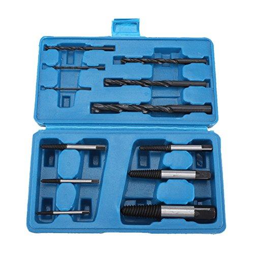 Juego de extractor de tornillos pelados dañados para tornillos rotos Juego de brocas de 12 piezas
