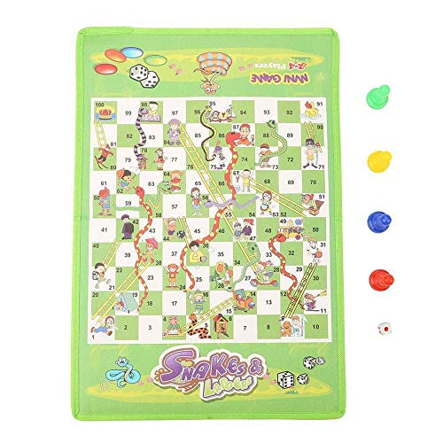 XHH Chess Game Snake Ladder Interesting Board Game Toy Set Portable Flying Chess Board Educational Kids Toys (Puzzle entertainment family)