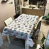 YATING Polyester bedrucktes Gewebe Federschwert Digitale Tischdecke Home Fashion Persönlichkeit Tischdecke ZB2094-7 140x140cm für Küche, Restaurant, Hof, Café, Party oder Picknick