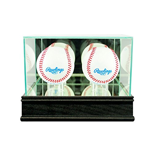 Perfect Cases Double Baseball Display Case with Sport Moulding