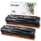 VicLabs Compatible 131 131H Toner Cartridge, Replacement for 131H 131 LBP7110CW MF624CW MF628CW MF8280CW Printer(Black,2-Pack