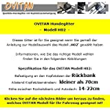 OVITAN Hundegitter fürs Auto 2 Streben universal zur Befestigung an den Kopfstützen der Rücksitzbank – für alle Automarken geeignet – Modell: H02 - 2