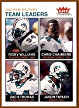 2003 Fleer Tradition #255 Ricky Williams Chris Chambers Zach Thomas Jason Taylor MIAMI DOLPHINS