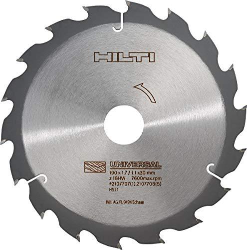 Hilti Hoja sierra circ. SCB WU 190x30 z18, 2107707