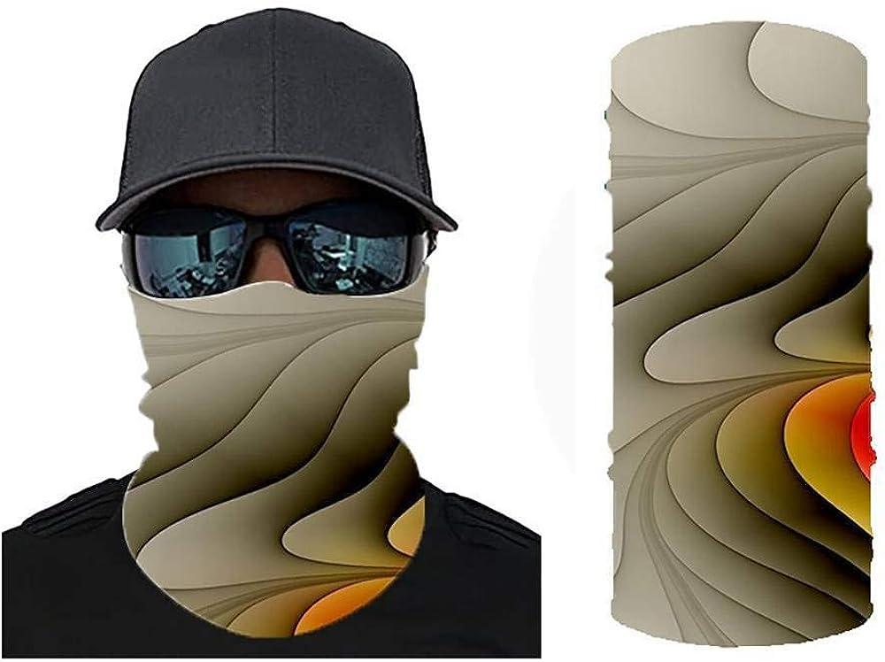 MUJOELE Magic Headscarf Bike Windproof Sunscreen Cycling Mask Geometric 3D Digital Printing