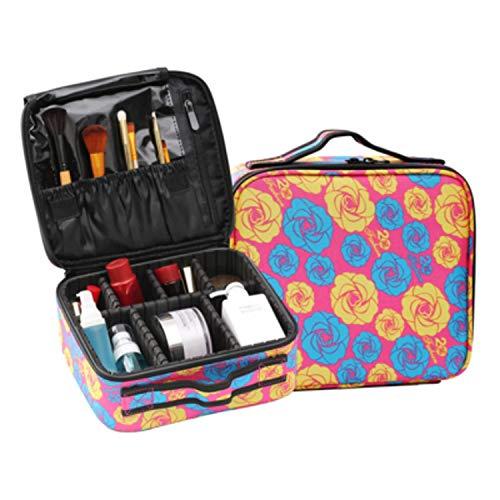 Vrouwen Professionele Cosmetische Case Schoonheid Borstel Koffer Make Up Bag Leuke Reizen Noodzakelijke Waterdichte Toilettassen, 55