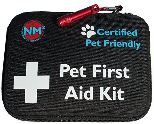 Pet First Aid Kit for Dogs | 45-Piece First Aid for Pets | Perfect for Home, Travel, Camping, Hiking | Comprehensive Pet Emergency Care Handbook | Certified Pet Friendly | Free Bowls