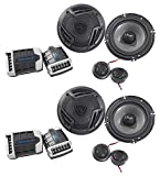 (2) Pairs Rockville RV65.2C 6.5' Component Car Speakers 1500w/280w RMS CEA Rated