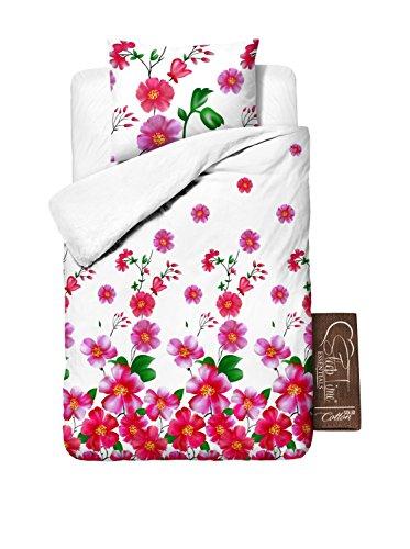 SleepTime Coordinato Copripiumino Baby Flower Rosa 200 X 200 cm + 2/60 x 70 cm