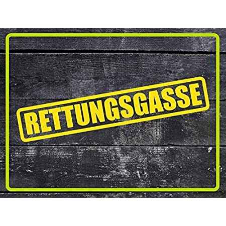 Dinger Design Aufkleber Rettungsgasse Feuerwehr Polizei Drk Sticker Decal Stickerbomb Gelb Auto