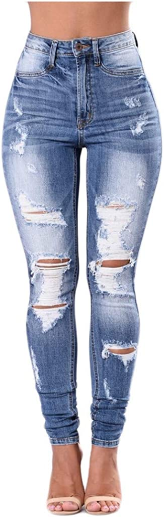 MASZONE Y2K Fashion Skinny Jeans for Women Stretch Slim Fit Ripped Jeans High Waisted Casual Denim Pants Streetwear