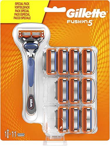 Gillette Fusion5 Rasierer für Männer, 10Rasierklingen