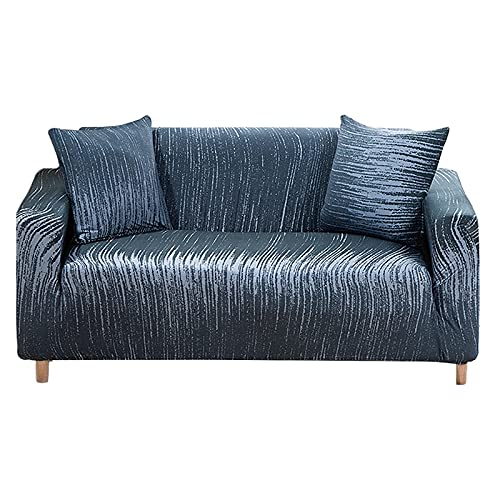 WXQY Funda de sofá elástica elástica,Funda de protección para Muebles,Funda de sofá de Esquina en Forma de L Antideslizante para Sala de Estar A1 2 plazas