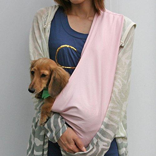 DogPeace(ドッグピース)エブリデイ・コンパクトコットン・ドッグスリング2[飛出し防止フック付]Lベビーピンク小型犬用子犬抱っこ紐ひもバッグスリングペットPETキャリーキャリア