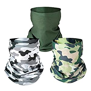 Classic Design - The masks are designed with the pattern of camouflage, high-quality material and excellent seamed edge makes it perfect for you to wear not only for protection but also great accessories when hunting camping. Well Protection - Wearin...