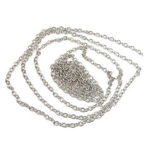 SODIAL(TM) 2 mt catenella catena argento creazione di gioielli