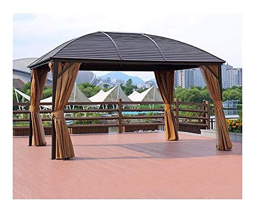 HLZY Gazebo de Muebles de jardín Jardín Gazebo, Patio Pabellón Pabellón Toldo de Aluminio móvil Cuatro Esquinas del pabellón Pabellón de Aire Libre Patio Jardín Villa Marquesina Exterior