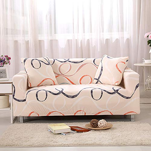 QWEASDZX All-Inclusive Sofa Cover 1/2/3/4 Seat Cover Sofa Cover Can Be Washed, Anti-Mite And Anti-Wrinkle 3 Seater(190-230cm)