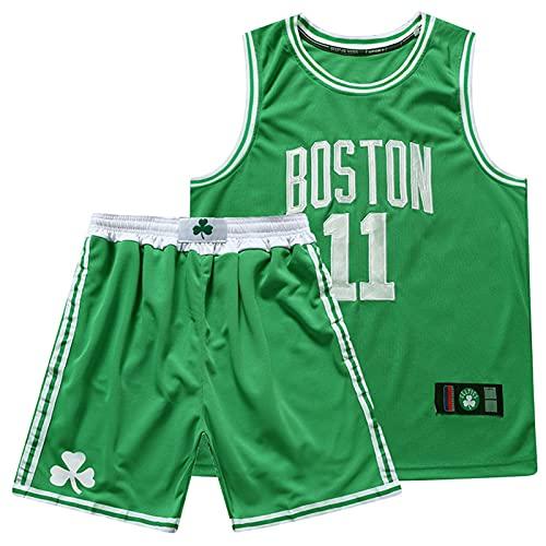 Wsaman Jersey # 11 Baloncesto Jersey Bordado Fan, No.11 Camiseta de Baloncesto para niños Hombres,Fitness Conjunto De Uniforme,Baloncesto para Adultos Ropa Deportiva Entrenamiento,Verde,M