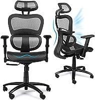 Komene Ergonomic Office Chair, Swivel Desk Chair With Breathable Mesh Back, Adjustable Headrest, Backrest and Liftable...