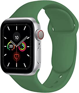 Compatible with Apple Watch Bands 42mm 44mm,Soft Silicone Fitness Replacement Accessories Straps for iWatch Bands Series ...