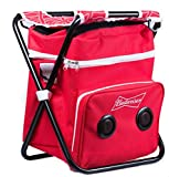 Budweiser Beach/Tailgate/Picnic Chair & Insulated Cooler Bag with Built in Rechargeable Bluetooth Speaker