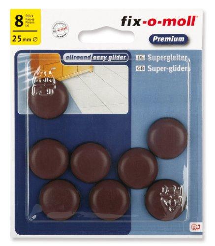 fix-o-moll, Set di pattini slittanti per spostare mobili, adesivi, 25 mm, 8 pz, 3566431