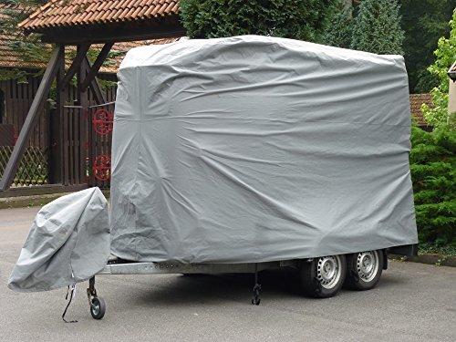 EXCOLO Pferdeanhänger Schutzhaube Schutz Hülle Schutzplane Abdeckung Garage für 2er Pferdetransporter