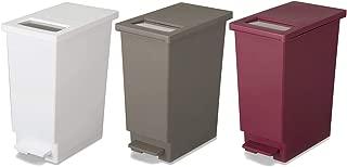 新輝合成 フタ付きゴミ箱 ユニード ゴミ箱 ペダル プッシュ ペール 3色 3個セット 45L