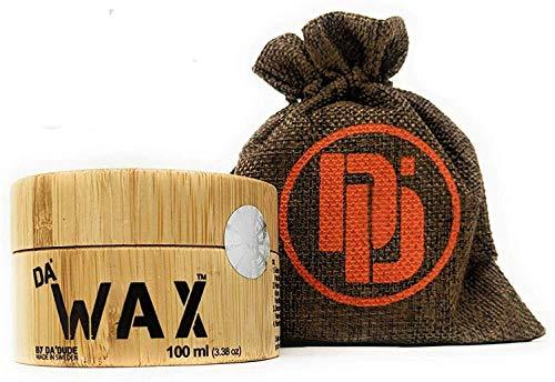 DA Dude Da Wax Starker Halt Haar Wax - Bestes Haarwachs matt - Haarwax Männer in einer einzigartigen Holzwanne und Geschenkbeutel 100 ml
