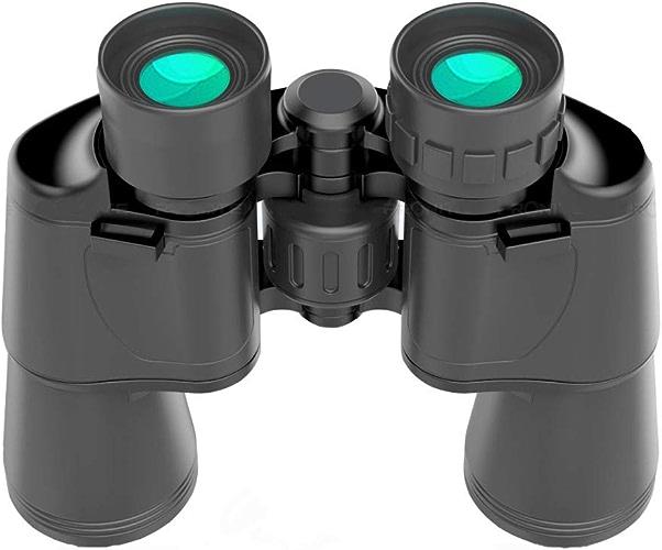 GJJ Télescope Double Cylindre 20x50   Haute définition Haute Vision Nocturne Basse lumière Miroir métallique Grand oculaire,Noir,20x50