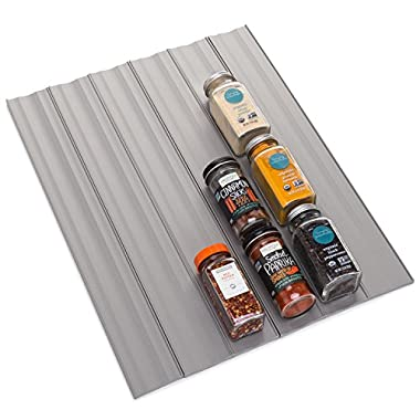 YouCopia SpiceLiner Spice Rack Drawer Organizer (Universal Fit 6-Pack), 24-Bottle