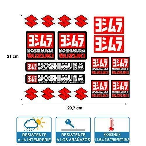 Stickers Compatibel met Yoshimura Suzuki print laminaat bescherming informatieblad (29 cm x 21 cm) 18 eenheden