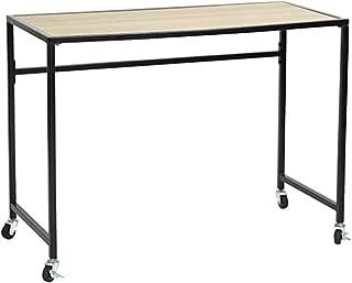 MEUBLE COSY Bureau d'ordinateur amovible, bureau table en bois de hêtre en métal avec roulettes en nylon , bois /100x46x74cm