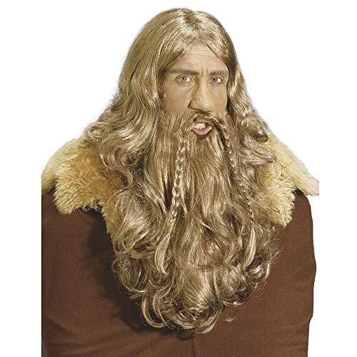 VIKING WIG WITH BEARD & MOUSTAHCE (peluca)