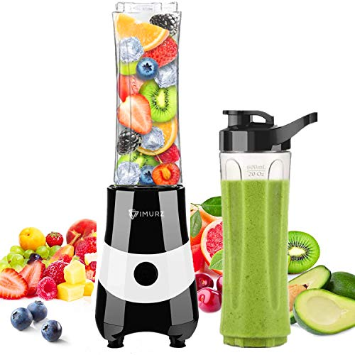 Blender Smoothie Maker, Portable Juicer with 2 Blender Cups for Smoothie, Frozen Juices, Protein Shakes, Ice