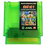 239in1 Classic Collection for Nes Multi Games Cartridge 8 Bit Green Transparent