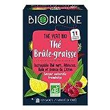 BiOrigine – Thé Brûle-graisse – Thé vert & kola – Ingrédients d'origine naturelle – Fabriqué en France – 20 sachets
